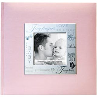 "Baby - Pink - Fabric Expressions Photo Album 8.5""X8.5"" 200 Pockets"