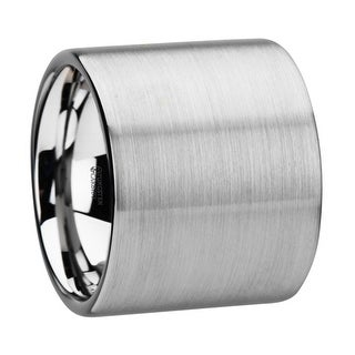 THORSTEN - MORRISON Flat Pipe Cut Tungsten Carbide Ring with Brushed Finish - 20 mm
