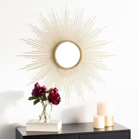 """SAFAVIEH Lorien 36-inch Champagne Sunburst Round Mirror - 35.8"""" W x 1"""" L x 36"""" H"""