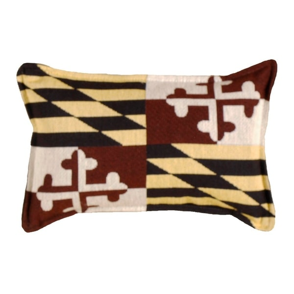 Set of 4 State Flag of Maryland Rectangular Decorative Tapestry Throw Pillows 12""