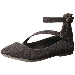 Blowfish Womens Ranton Flannel Ankle Strap Flats - 7.5 medium (b,m)