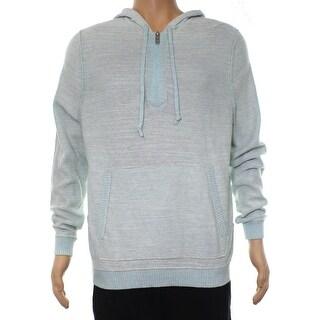 Tommy Bahama Blue Mens Size Large L 1/2 Zip Samaria Palm Sweater