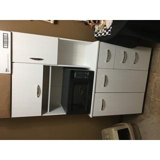 Laricina White Kitchen Storage Cabinet 17139030