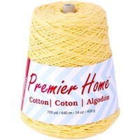 Home Cotton Yarn - Solid Cone-Yellow
