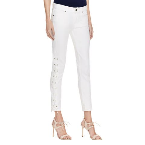 Paige Womens Verdugo Ankle Jeans Lace-Up Skinny