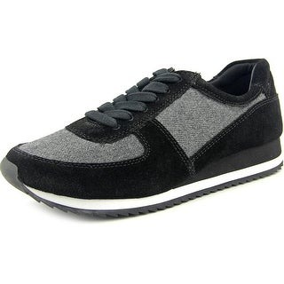 Bella Vita Emile Women W Round Toe Suede Black Sneakers