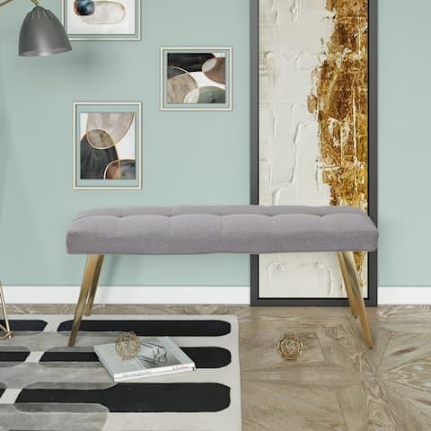 Modrest Cici Contemporary Grey & Antique Brass Bench