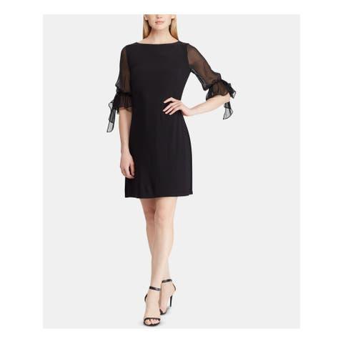 RALPH LAUREN Black Above The Knee Dress 16