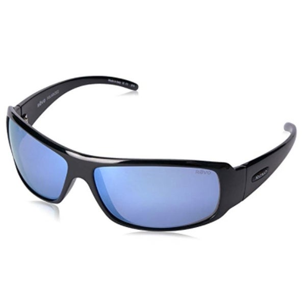 30dd857f422 Shop Revo Eyewear Sunglasses Gunner Shiny Black with Blue Water Polarized  Lenses - Free Shipping Today - Overstock - 22125361