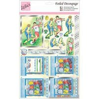 Anita's A4 Foiled Decoupage Sheet-Football Kit