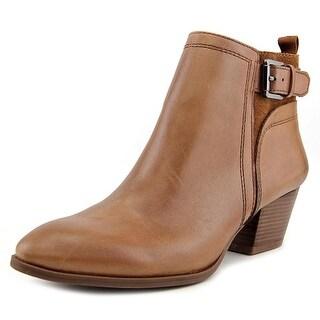 Franco Sarto Garda Women Round Toe Leather Brown Ankle Boot