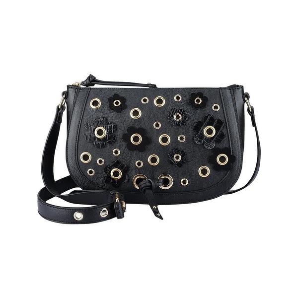 e73d4c453ee8 Shop Nine West Womens Evelina Crossbody Handbag Faux Leather Grommet ...