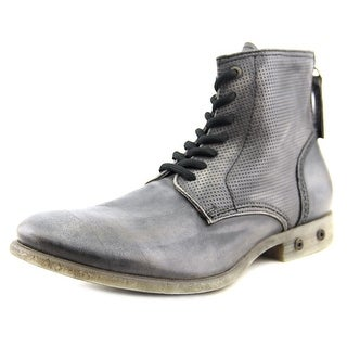 Diesel Chron Zip Men Round Toe Leather Black Boot