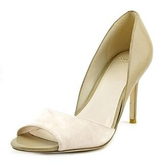 Cole Haan Antonia OT.Pump Peep-Toe Leather Heels