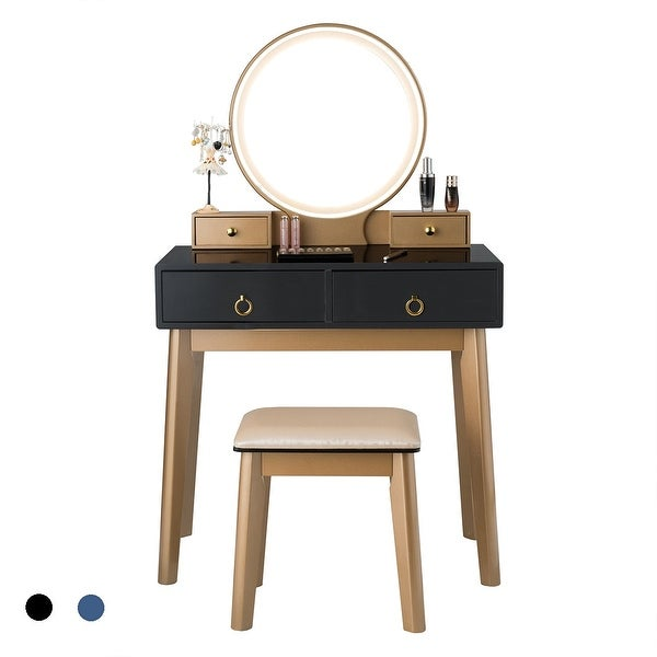 Costway Vanity Makeup Table Touch Screen 3 Lighting Modes Dressing. Opens flyout.