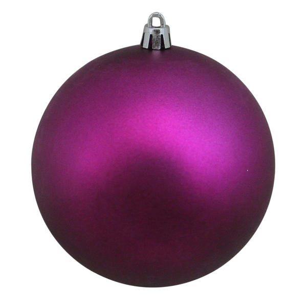 "Purple Shatterproof Matte Christmas Ball Ornament 4"" (100mm)"