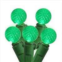 Set Of 50 Seafoam Green LED G12 Berry Fashion Glow Christmas Lights