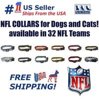 Pets First NFL Dog Collar - Heavy-Duty, Durable & Adjustable Football Collar