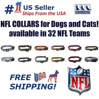 Pets First NFL Dog Collar - Heavy-Duty, Durable & Adjustable Football Collar