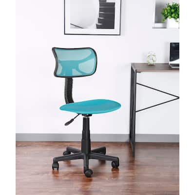 JJS Kids' Height-adjustable Mesh-back Rolling Swivel Task Chair
