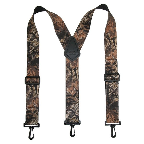 CTM® Men's Big & Tall Elastic Camouflage Suspenders with Black Swivel Clips
