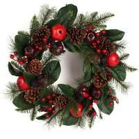 """Winter Garden Wreath 24""""-"""