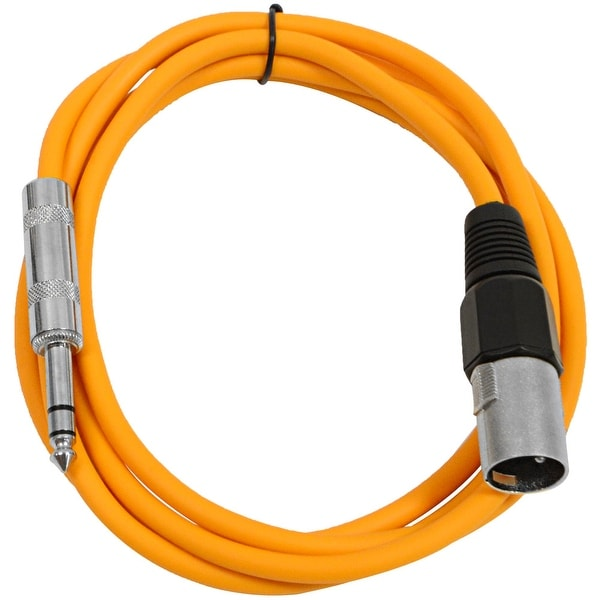 "SEISMIC AUDIO Orange 1/4"" TRS - XLR Male 6' Patch Cable"