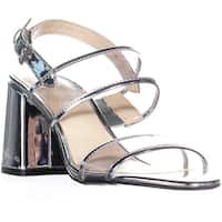 Nine West Gourdes Strappy Toe Ring Sandals, Clear Gray