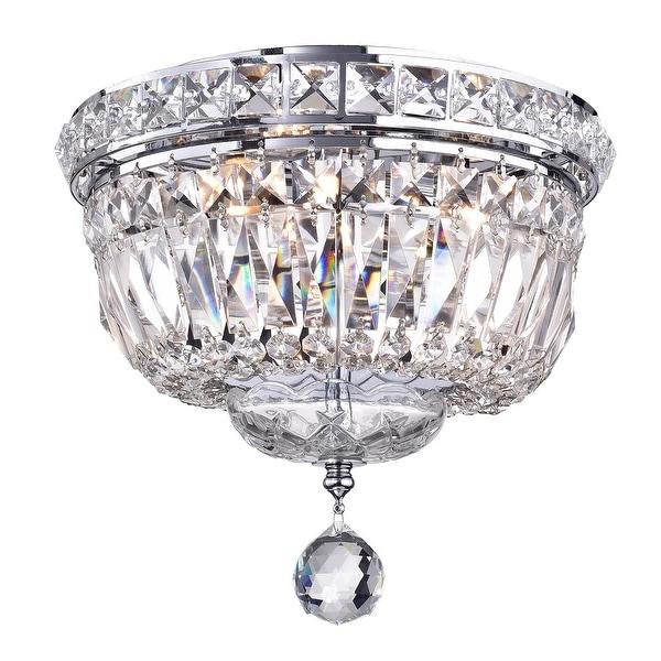 Chrome 3-Light Crystal Ceiling Flush Mount