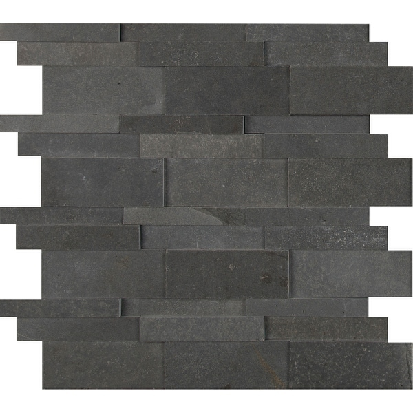 "MSI SMOT-BSLTB-3DH 12"" x 11-3/4"" Cladding Mosaic Sheet - Honed Stone Visual - Sold by Carton (9.8 SF/Carton) - Neptune"