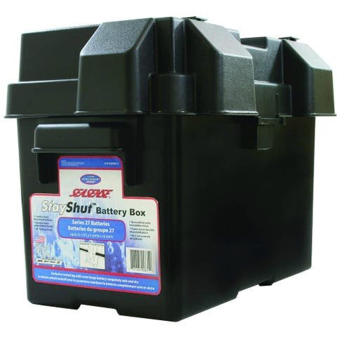 SeaSense 50090671 StayShut Battery Box with Strap for Series 27 Batteries