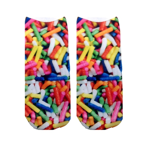 Candy Sprinkles Photo Print Ankle Socks - Multi-Colored