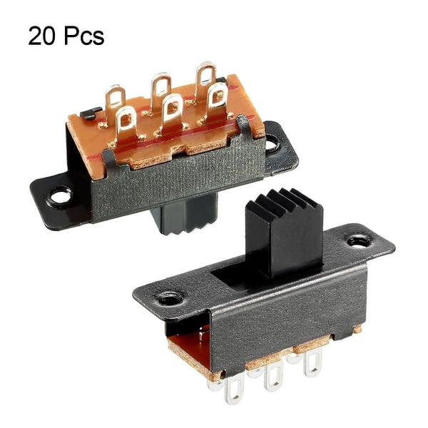 Lever 6mm 1St. 4-Pos. Slide SWITCH 6-pole Print. Straight front panels