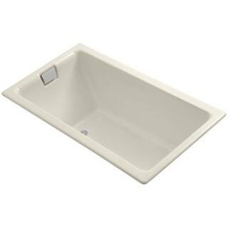 "Kohler K-855 Tea For Two Collection 66"" Cast Iron Drop In Soaking Bathtub with Reversible Drain"