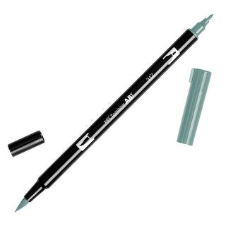 Tombow Dual Brush Pen Art Marker, 312 - Holly Green, 1-Pack