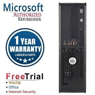 Refurbished Dell OptiPlex 760 SFF Intel Core 2 Duo E8400 3.0G 4G DDR2 160G DVD Win 7 Home 64 Bits 1 Year Warranty - Black