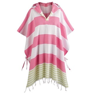 Women's Turkish Towel Ponchos - Hooded Beach Cover-Up