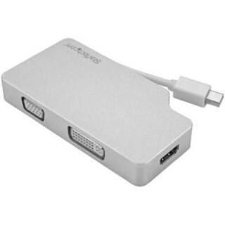 Startech.Com Mdpvgdvhd4k Aluminum Travel A/V Adapter 3-In-1 Mini Displayport To Vga