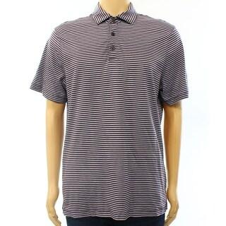 Michael Kors NEW Purple Mens Size Medium M Stripe Polo Rugby Shirt