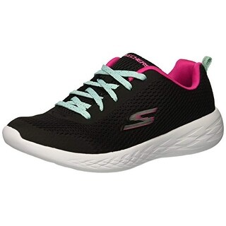 Skechers Kids Girls' Go 600-Fun Run Sneaker, Bkmt, 5.5 Medium Us Big Kid