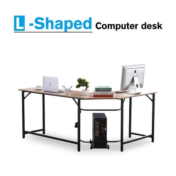 L Shaped Corner Desk Computer Workstation Home Office: Shop Mcombo Office Desk L-Shape Corner Computer PC Latop