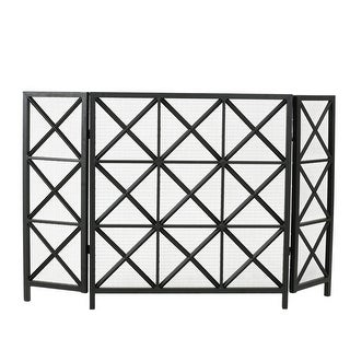 """Link to 30"""" Black Contemporary 3 Paneled Fireplace Screen Similar Items in Fireplaces"""
