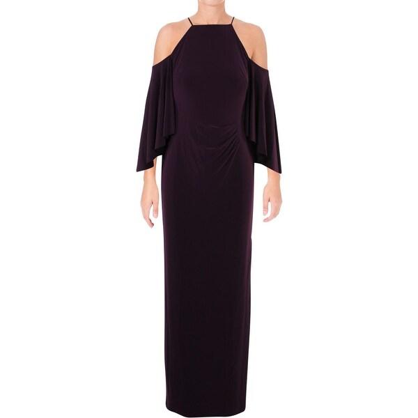 Lauren Ralph Lauren Womens Evening Dress Cold shoulder Halter