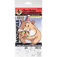 Hamster - Art Impressions Mouthfuls Stamp & Die Set