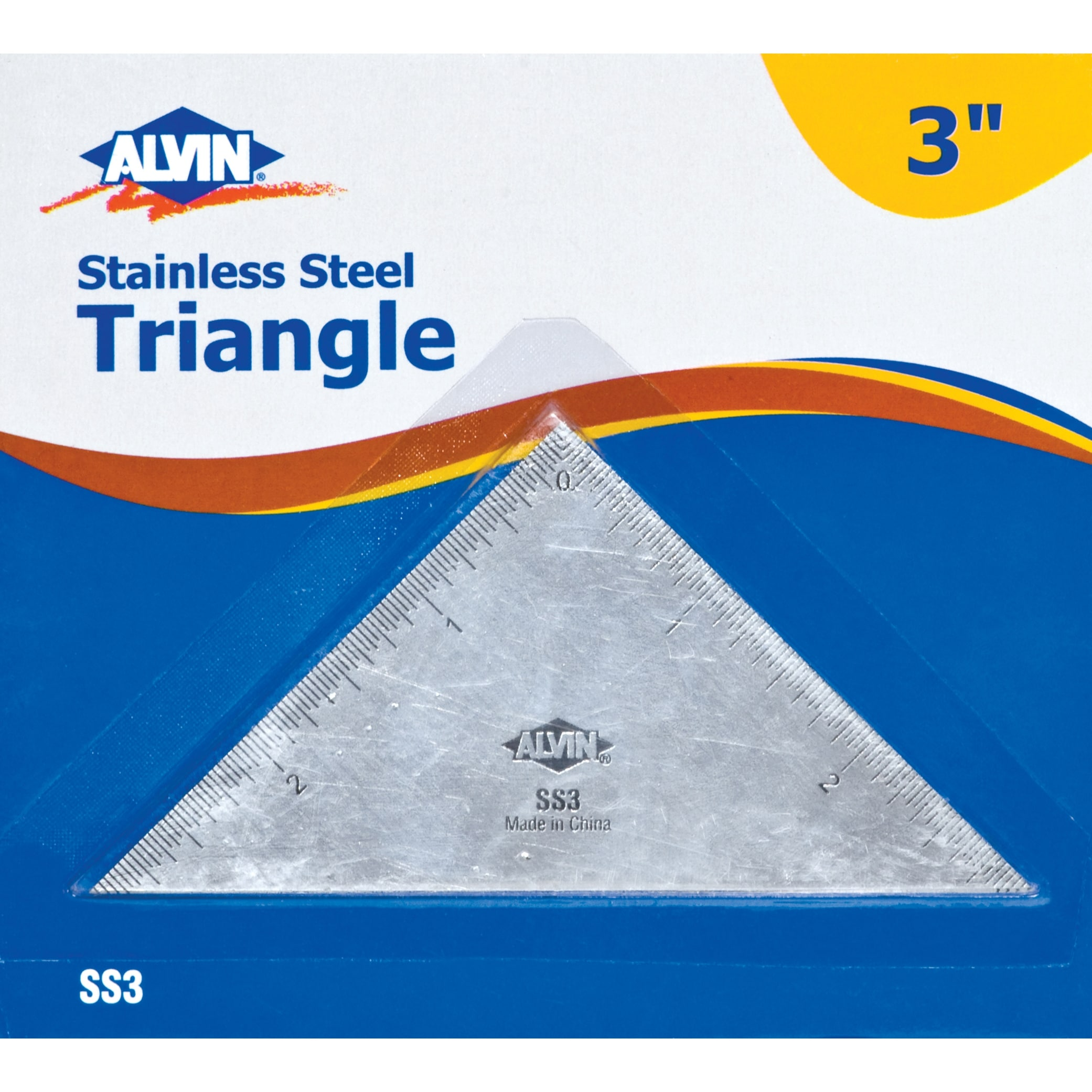Alvin 3 Inches Triangle Stainless Steel Ruler