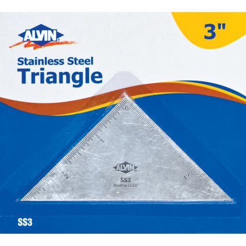 Alvin ss3 3 triangle stainless steel ruler