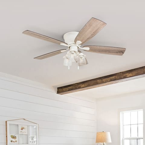 The Gray Barn Chevening 52-inch Coastal Indoor LED Ceiling Fan with Pull Chains 5 Reversible Blades - 52