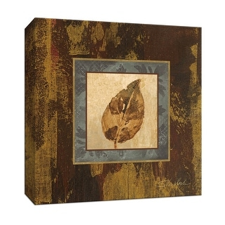 """PTM Images 9-153389  PTM Canvas Collection 12"""" x 12"""" - """"Autumn Leaf Square III"""" Giclee Leaves Art Print on Canvas"""