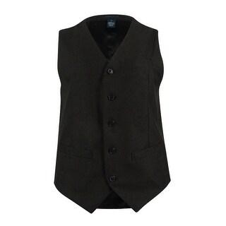 Perry Ellis Men's Slim-Fit Neat Vest - Charcoal