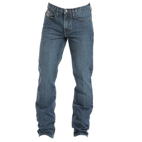 Cinch Western Denim Jeans Mens Silver Label Low Rise Med